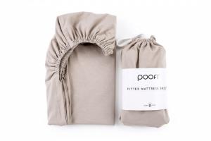 POOFI prześcieradło do łóżeczka 60x120 cm nugat