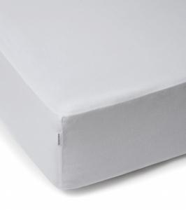 WHITE POCKET prześcieradło z gumką białe 160x200