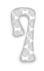 """Super Mami """"7""""  Poduszka dla kobiet w ciąży wzór Scandi"""