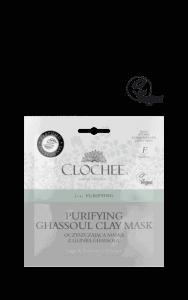 CLOCHEE oczyszczająca maska z glinką ghassoul 2x6ml