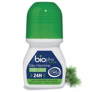 BIOPHA ORGANIC naturalny dezodorant w kulce Ałunowy Sosna dla Mężczyzn