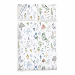 WHITE POCKET LAS pościel satyna bawełniana dla dzieci 100x135