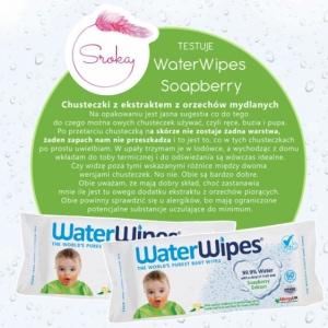 WATERWIPES chusteczki nasączane czystą wodą Soapberry 60 szt.