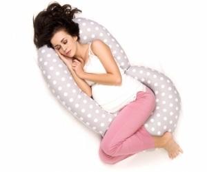 """Super Mami """"C"""" Poduszka dla kobiet w ciąży wzór Grochy"""