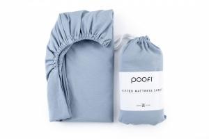 POOFI prześcieradło do łóżeczka 60x120 cm dusty blue
