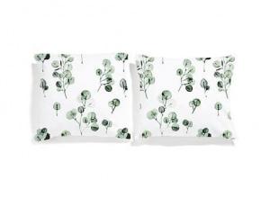 WHITE POCKET EUKALIPTUS x2 poszewki na poduszki 50x60