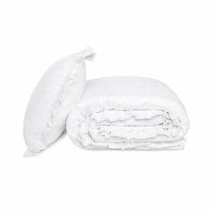 WHITE POCKET FALBANY pościel satyna bawełniana 200x220